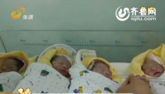 视频:高龄孕妇打排卵针 早产诞下四胞胎