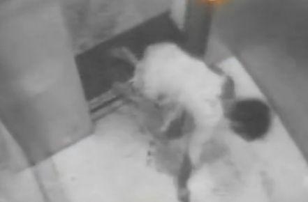 监拍女子遭男友捅数刀 全身是血爬入电梯