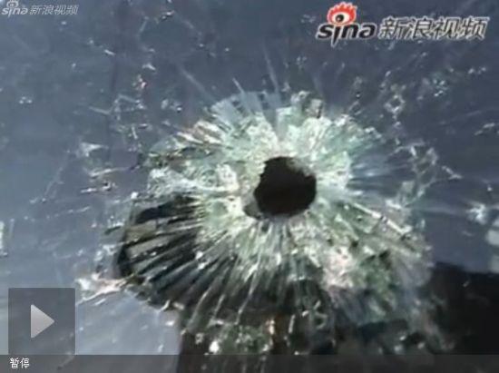 女子开车途中遭遇枪击