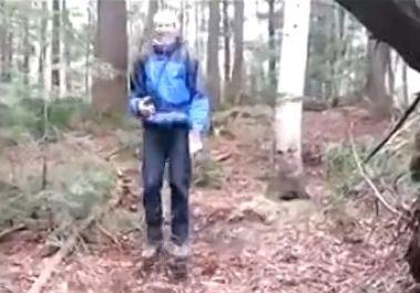 森林现天然蹦床
