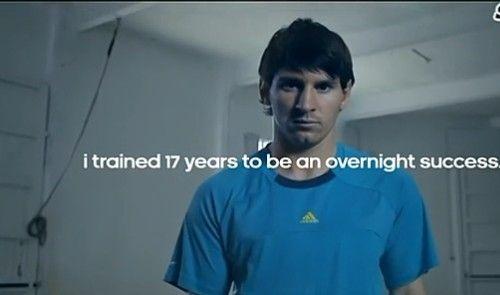 梅西励志广告 为了成就梦想十七年如一日