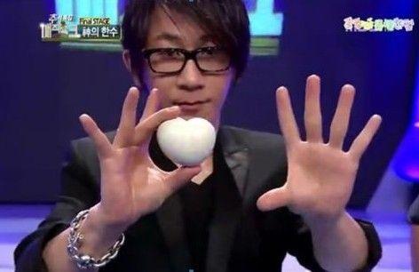 刘谦变心形鸡蛋