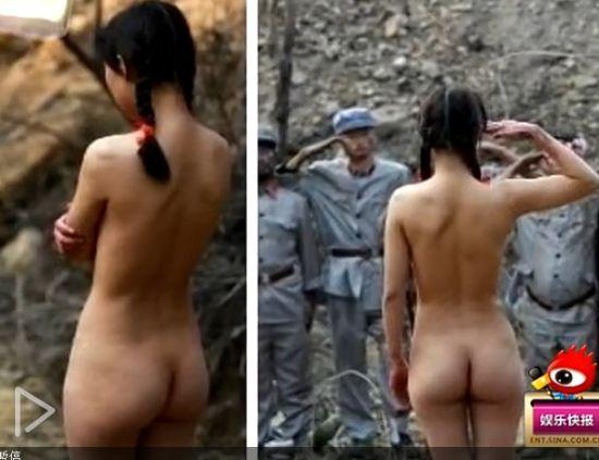 抗日裸女敬礼红军