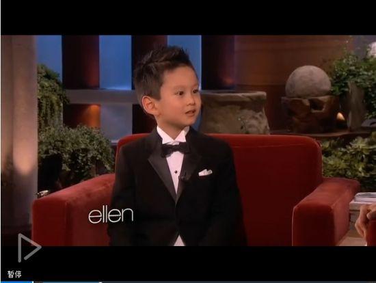 视频:加拿大5岁华裔钢琴神童做客Ellen秀