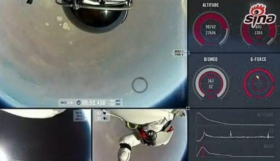 实拍奥地利狂人3.9万米高空跳下安全着陆