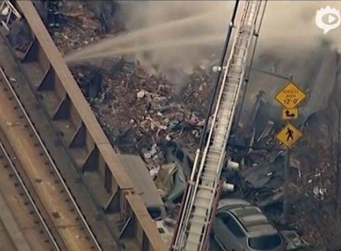 纽约公寓爆炸现场