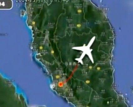 MH370飞行路线